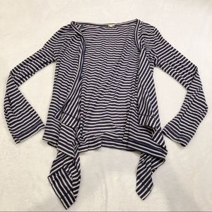 J. Crew | Striped Open Front Cardigan M